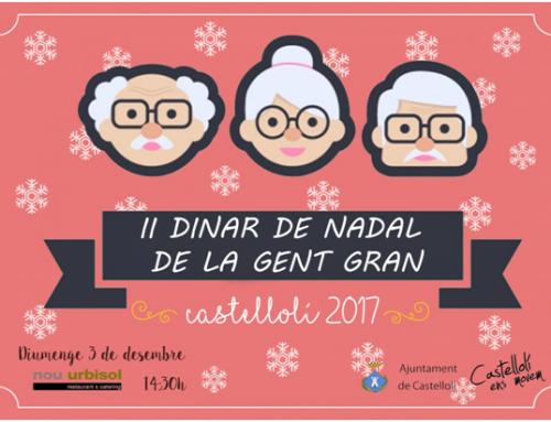 L'Ajuntament de Castellolí convida a la gent gran del poble a un dinar de Nadal