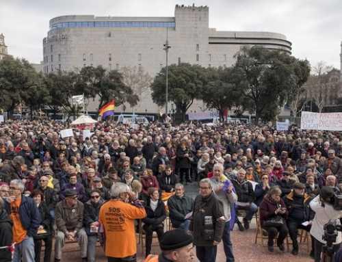 Els jubilats es manifesten contra la pujada del 0,25% de les pensions